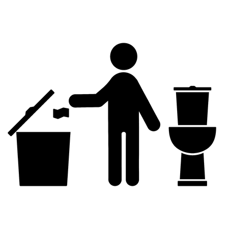 Hygiene flat icon. isolated icon on white background