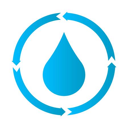 Icône de traitement de l'eau, illustration vectorielle, icône de goutte d'eau. Vecteurs