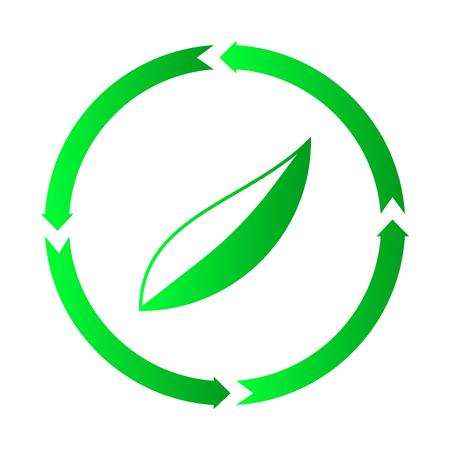 Ecology leaf design icon, vector illustration, leaf icon