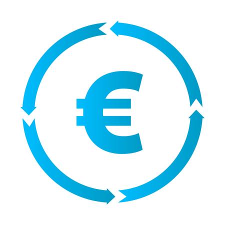 Euro turnover icon, vector illustration euro icon