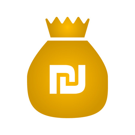 Money bag icon. vector illustration. flat style