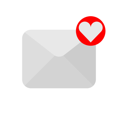 Love letter icon. Vector illustration flat style.
