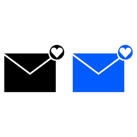 love letter icon. vector illustration. glyph style Stock Illustratie