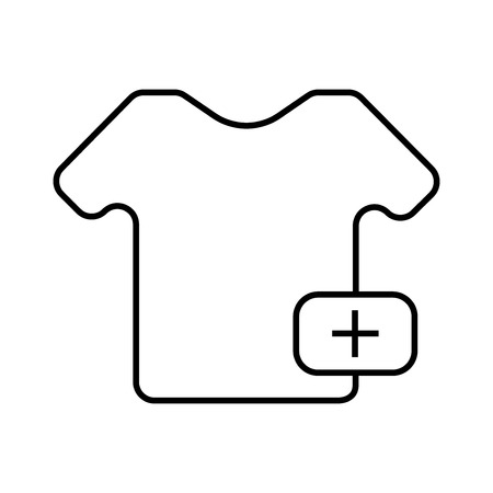 Buying a t-shirt icon vector illustration