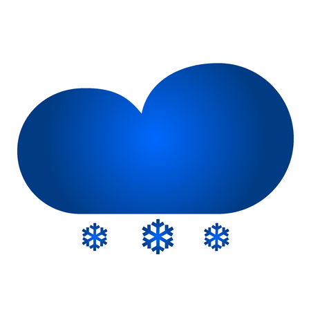 Cloud with snow icon. Vector icon. Flat style illustration.