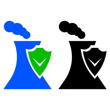 Industrial safety icon, vector flat style. Illustration