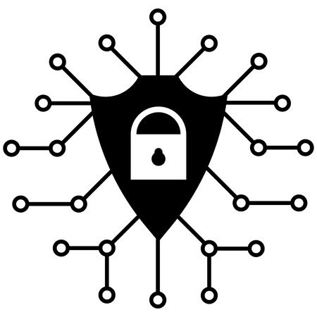 Cyber security icon, Vector icon flat style