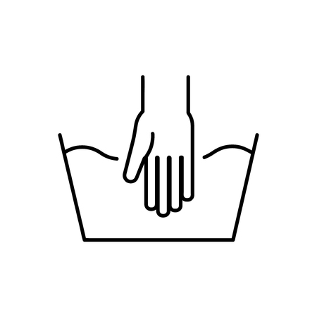 Handwash outline icon, isolated on white background