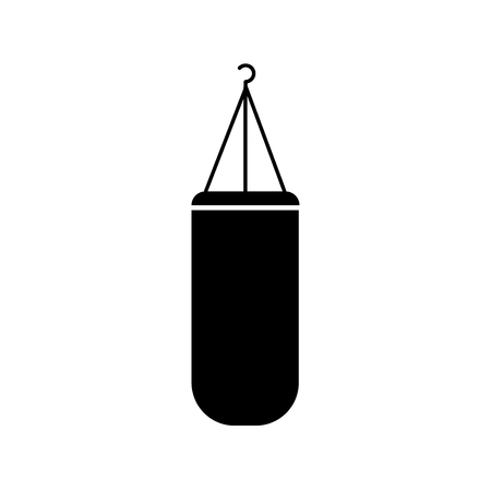 Punching bag icon, isolated on white background
