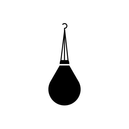 Punching bag icon, isolated on white background