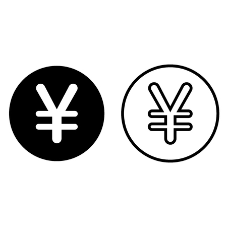 Japanese yen currency symbol icon, isolated on white background