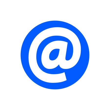 Email address icon, isolated on white background Illustration