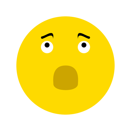 Frustrated Smiley icon, isolated on white background Illustration