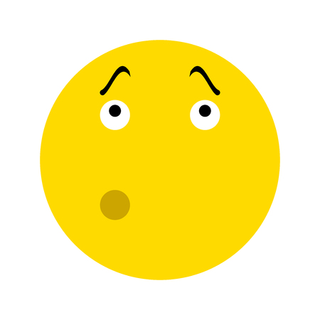Pensive Smiley icon, isolated on white background