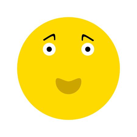 Icona di emoticon faccina sorridente felice, isolato su priorità bassa bianca