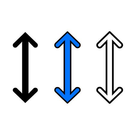 Zoom in icon, isolated on white background Ilustração