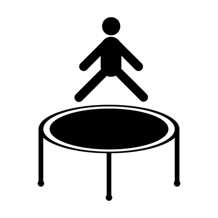 Jumping trampoline icon, isolated on white background Иллюстрация