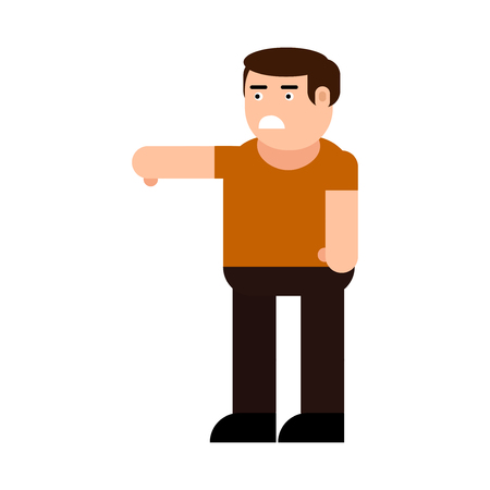 Dissatisfied man icon, isolated on white background