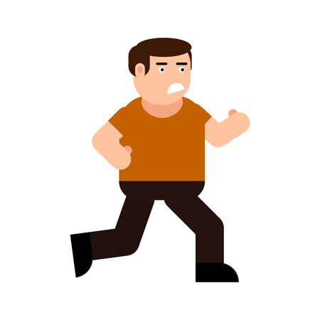 Running frightened man icon, isolated on white background Stock Illustratie