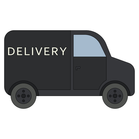 Delivery truck icon isolated on white background