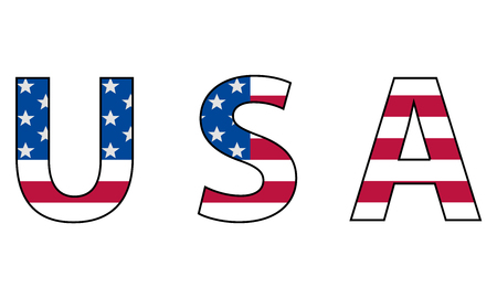 USA flag vector icon, isolated on white background