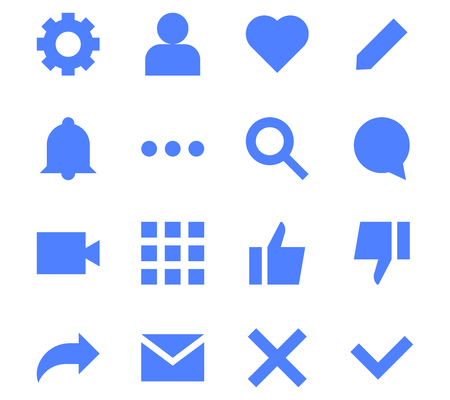 Interface flat icons for web and mobile app