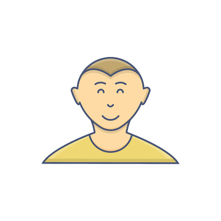 Male avatar profile flat icon isolated on white background Vectores