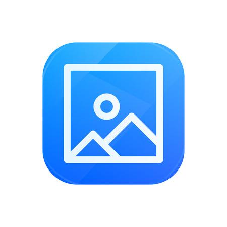 Picture glossy flat icon, image symbol Illustration