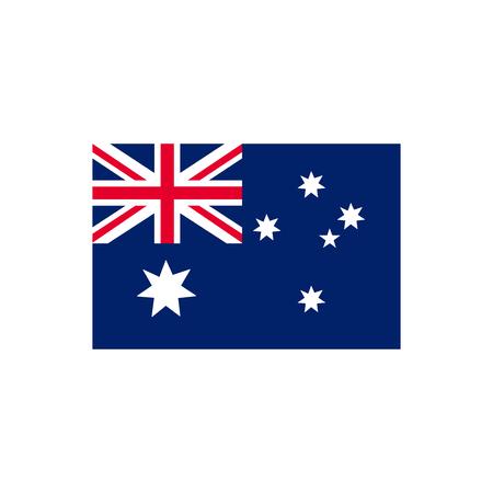 Australia Flag vector icon in flat style