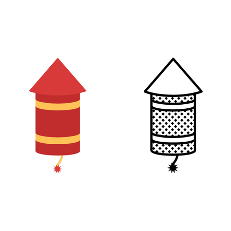 Rocket icon set, pyrotechnics symbol, vector illustration 일러스트