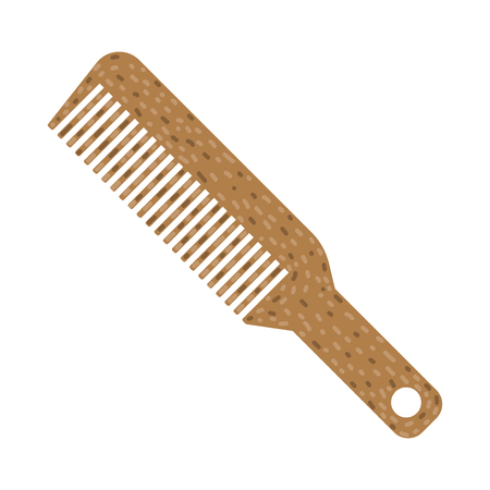 Hair Comb vector flat icon on white background
