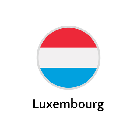 Luxembourg flag round flat icon, european country vector illustration
