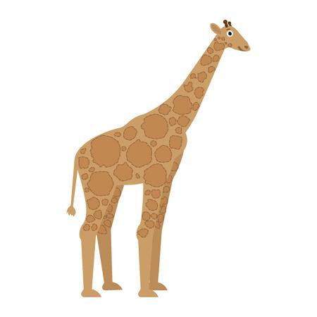 Giraffe icon in flat style, african animal vector illustration