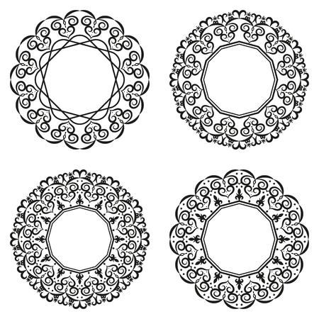 Mandala or patterned frame vector illustration Ilustração
