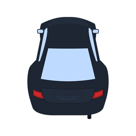 Car flat icon, transportation vector illustration on a white background Vecteurs