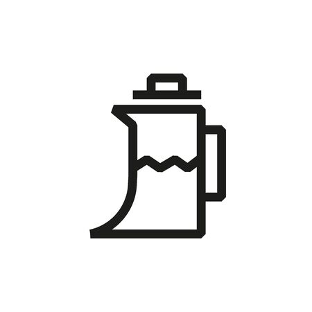 Kettle outline icon on white background Reklamní fotografie - 129396587