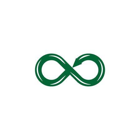 Symbol of infinity flat icon isolated on white background Stock Illustratie