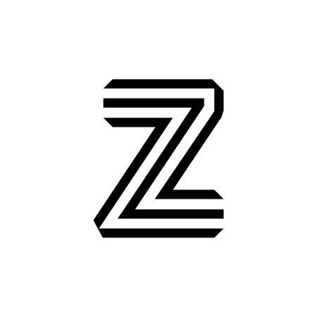 Letter Z modern  symbol isolated on white background Stock Illustratie