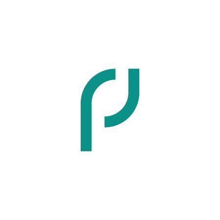 Letter P modern logo isolated on white background Stock Illustratie