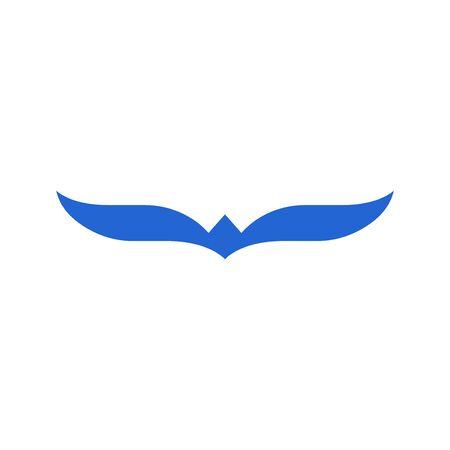 Flying bird icon isolated on white background