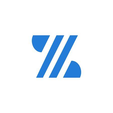 Letter Z modern isolated on white background Stock Illustratie