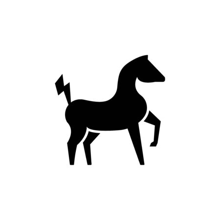 Powerful electric horse in a proud vector illustration isolated on a white background. stance