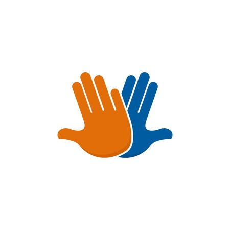 High five flat icon on white background