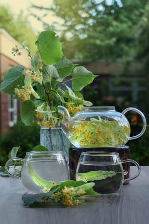 Lime flower tea. Aroma, health, energy