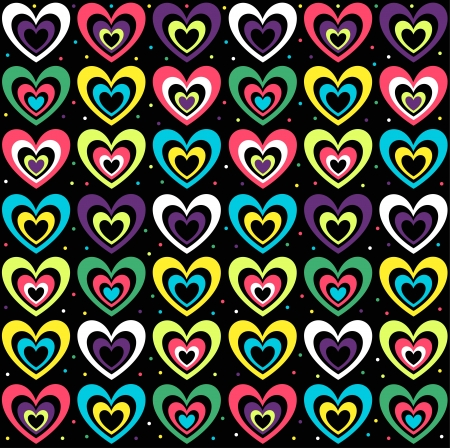 background with the coloured hearts Stock Vector - 18338937