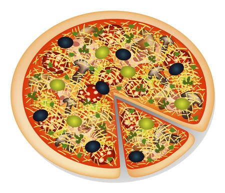 proportion: pizza Illustration