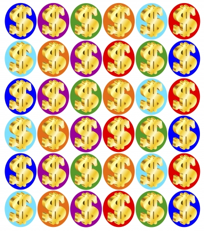 background with dollars Stock Vector - 18826442