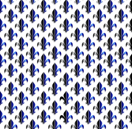 wry: fleur-de-lis seamless pattern