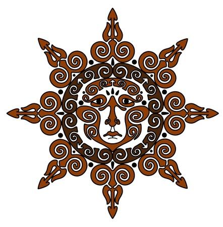 paganism: sun Illustration