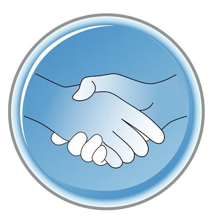 allegiance: handshake Illustration
